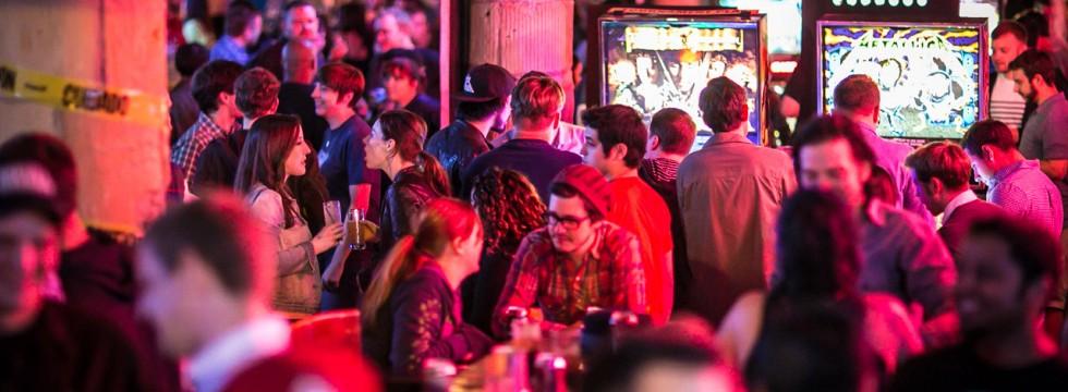 Headquarters Beercade weekend crowd
