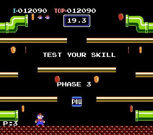 Evolution of Mario arcade