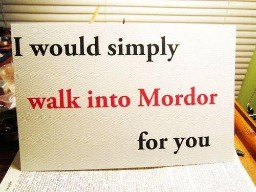 Nerd pickup lines Mordor